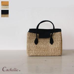 Cachellie (カシェリエ) アバカ キャンバス かご ミニ トートバッグ Sサイズ|amico-di-ineya