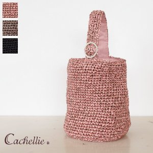 Cachellie (カシェリエ) トートバッグ ワンハンドル MIXニット パールリング|amico-di-ineya