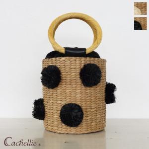 Cachellie (カシェリエ) バンカン バケツ型 ランダムポンポン かごバッグ 54-5952/54-5952|amico-di-ineya