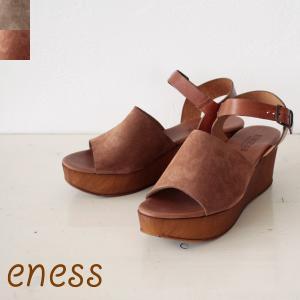 eness(エネス)スエードウエッジソールサンダル *55T607/ 返品不可|amico-di-ineya