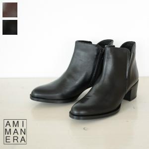 AMIMANERA アミマネラ レザー ショート ブーツ 72520|amico-di-ineya