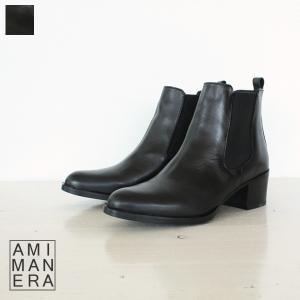AMIMANERA アミマネラ サイドゴア レザー ショート ブーツ 77020|amico-di-ineya