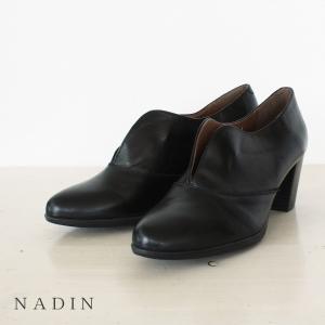 NADIN ナディン スリット入り レザー ブーツ 84/777|amico-di-ineya