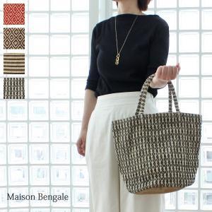 Maison Bengal メゾンベンガル ジュート麻 バッグ (Lサイズ)|amico-di-ineya