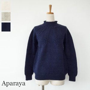 Aparaya セーター ウール ニットプルオーバー ハイネック アパラヤ|amico-di-ineya