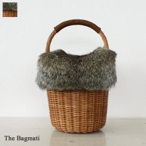 The Bagmati ザバグマティ かごバッグ ウィッカー ラビットファーフラップ付き BBK17-114|amico-di-ineya