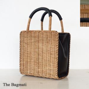 The Bagmati (ザバクマティ) ウィッカー レザー かごバッグ バスケットバッグ スクエア型|amico-di-ineya