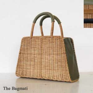 The Bagmati (ザバグマティ) ウィッカー レザー かごバッグ バスケットバッグ 台形|amico-di-ineya