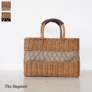 The Bagmati ザバグマティ ウィッカー レザー スクエア型 かごバッグ BBK18-17|amico-di-ineya