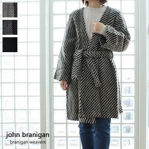 john branigan (ジョンブラニガン) ウール ノーカラー ベルト ニットコート Belt Coat|amico-di-ineya