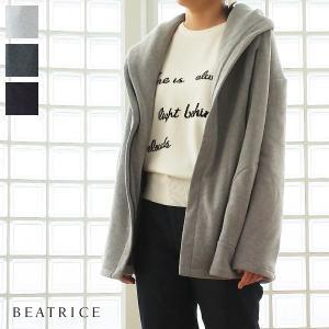 [30%OFF SALE] BEATRICE (ベアトリス) ジップアップ パーカー 裏起毛 フード E82518 返品不可|amico-di-ineya