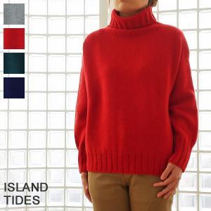ISLAND TIDES セーター タートルネック ニット プルオーバー ウール アイランドタイド LAM30|amico-di-ineya