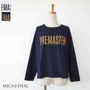 [30%OFF SALE] MICA&DEAL (マイカアンドディール) 長袖Tシャツ フロントロゴ PREMASTER サイドスリット コットン M18C127 返品不可|amico-di-ineya