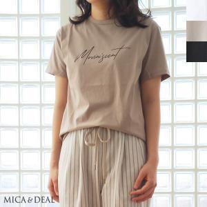 SALE [30%OFF] MICA&DEAL (マイカアンドディール) クルーネック Tシャツ Movin' scent 半袖 コットン 返品不可|amico-di-ineya