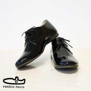 ramble dance ランブルダンス レースアップ エナメルシューズ 373-23106|amico-di-ineya