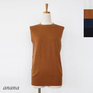 anana (アナナ) コットン ノースリーブ カットソー amico-di-ineya