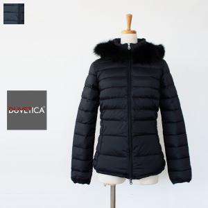 DUVETICA デュベティカ フォックスファーフード付き ショート丈 ダウンジャケット
