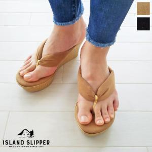 ISLAND SLIPPER (アイランドスリッパ) ウエッジソール トング サンダル UltraSuede Thong P7516U|amico-di-ineya