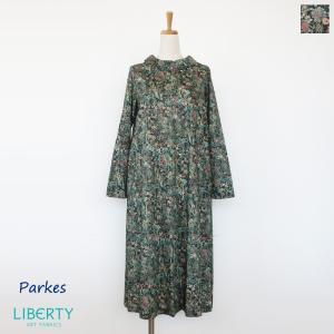 Parkes (パークス) ワンピース リバティプリント コットン 長袖 PY1931041|amico-di-ineya