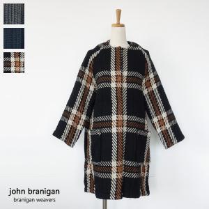 john branigan ニットコート ノーカラー ウール ジョンブラニガン Raglan Coat|amico-di-ineya