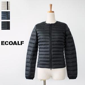 ECOALF エコアルフ ノーカラーショートダウンジャケット USHUAIA LIGHT JACKET|amico-di-ineya