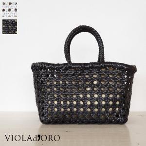 VIOLAd'ORO バッファローレザー メッシュ トートバッグ V-7008|amico-di-ineya