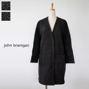 john branigan ジョンブラニガン ウール Vネック ロングニット コート V Coat|amico-di-ineya