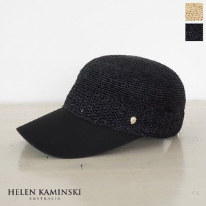 [国内正規品] Helen Kaminski (ヘレンカミンスキー) ラフィア コットンキャンバス ベースボールキャップ Vivian|amico-di-ineya