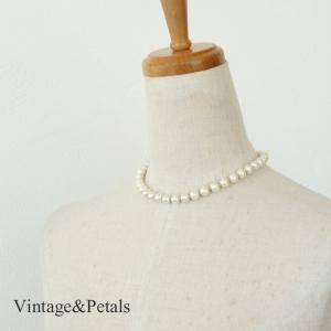Vintage&Petals ビンテージアンドペタルス コットンパール チョーカー VP115009|amico-di-ineya