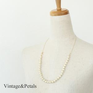 Vintage&Petals ビンテージアンドペタルス 3WAY コットンパール ネックレス VP155001|amico-di-ineya