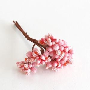 【リニューアル】プリベリー ジューシーピック ピンク 6コ <造花・アートフラワー・アーティフィシャルフラワー・フラワーアレンジメント・花材>