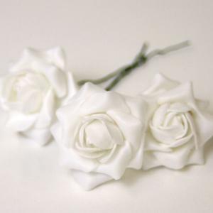 プリザーブドフラワー花材 フェアリーピック シルキーローズMホワイト24コ <フラワーアレンジメント・プリザーブドフラワー・ピック>