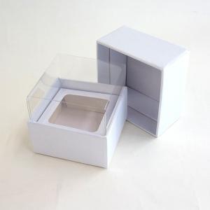 クリアウインドウボックスプチ白 3コ <フラワーアレンジメント・ベース・ボックス・花資材>