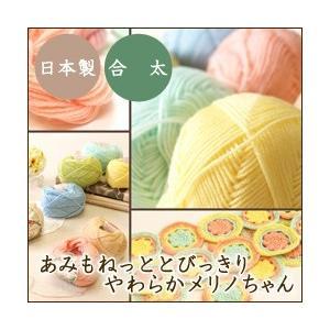 1色10玉セット 秋冬 毛糸 あみもねっととびっきりやわらかメリノちゃん 合太 まとめ買い用