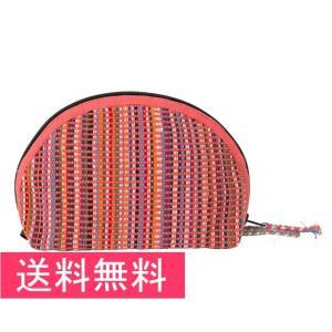 送料無料 シャプラニール 手織布のたっぷりポーチ ピンク クラフトリンク 手作り フェアトレード|amisbazar-jp