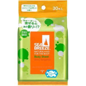 シーブリーズ ボディシート L ミックスフレーバータイプ シャイニーベルガモット × 4個セット|amiskanazawa