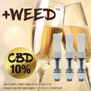 電子タバコ 電子たばこ 電子煙草 プラスウィード +WEED ピーチシャンパンCBD10%交換用カートリッジ3個入り ホワイト amiskanazawa