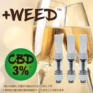 電子タバコ 電子たばこ 電子煙草 プラスウィード +WEED ピーチシャンパンCBD5%交換用カートリッジ3個入り ホワイト 4580620770188 amiskanazawa