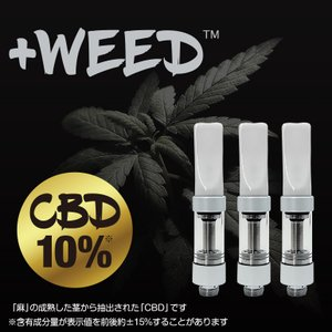 電子タバコ 電子たばこ 電子煙草 プラスウィード +WEED ハーブフレーバーCBD10%交換用カートリッジ3個入り ホワイト 4580620770133 amiskanazawa