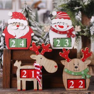 アドベントカレンダー クリスマス 飾り サンタクロースの人形 雪だるま お祝い おもちゃ 置物 プレゼント 玄関置物 装飾品 卓上 可愛い  カウントダウン|amistad-2