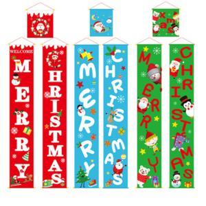 クリスマス 飾り 掛け軸 タペストリー セット 屋外 ドア 扉 室内 壁 玄関 インテリア 雑貨 装飾|amistad-2