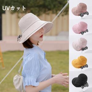帽子 レディース UV 紫外線カット つば広 ハット 紐付き 日よけ 大きいサイズ 紫外線対策 日焼け対策 自転車 小顔 飛ばない 母の日 運動会 旅行 オシャレ|amistad-2