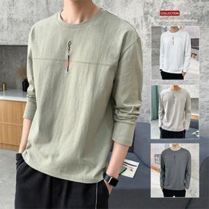 Tシャツ メンズ 長袖 無地 春 ロンT ティーシャツ カットソー ファッション カジュアル ブラック 白 2021 大きいサイズ 20代 30代 40代 50代 通学 父の日|amistad-2