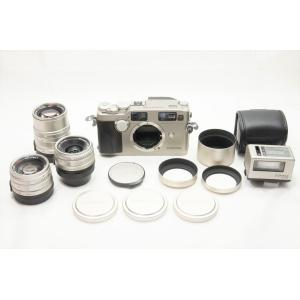 ★美品★CONTAX コンタックス G2 ボディ + 28mm, 45mm, 90mm レンズ + ...