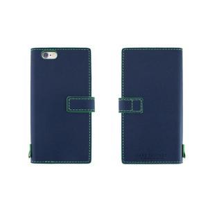 【アウトレット品 ギフトボックス無し】iPhone6s/6 (4.7インチ) イタリアンレザーケース Nuovos Blu Marino|amixonlineshop