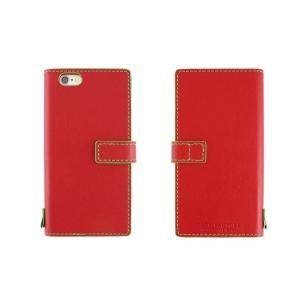 【アウトレット品 ギフトボックス無し】iPhone6s/6 (4.7インチ) イタリアンレザーケース Nuovos Rosso|amixonlineshop