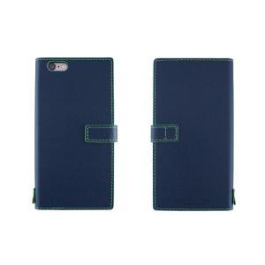【アウトレット品 ギフトボックス無し】iPhone6s Plus/6 Plus (5.5インチ) イタリアンレザーケース Nuovos Blu Marino|amixonlineshop