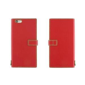 【アウトレット品 ギフトボックス無し】iPhone6s Plus/6 Plus (5.5インチ) イタリアンレザーケース Nuovos Rosso|amixonlineshop
