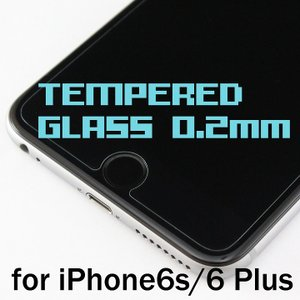 iPhone6s Plus/6 Plus (5.5インチ) 0.2mm 強化ガラスフィルム スクリーンプロテクター 日本製(AGC旭硝子製)ガラス使用 硬度9H 厚さ0.2mm 2.5Dラウンドエッジ|amixonlineshop