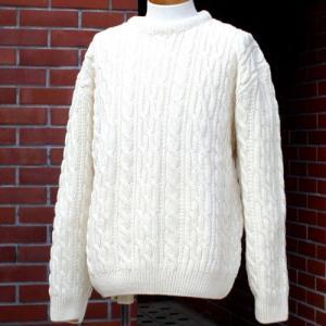 【Cedar】英国の定番ケーブルセーター(2色からお選びびいただけます。)|ammax